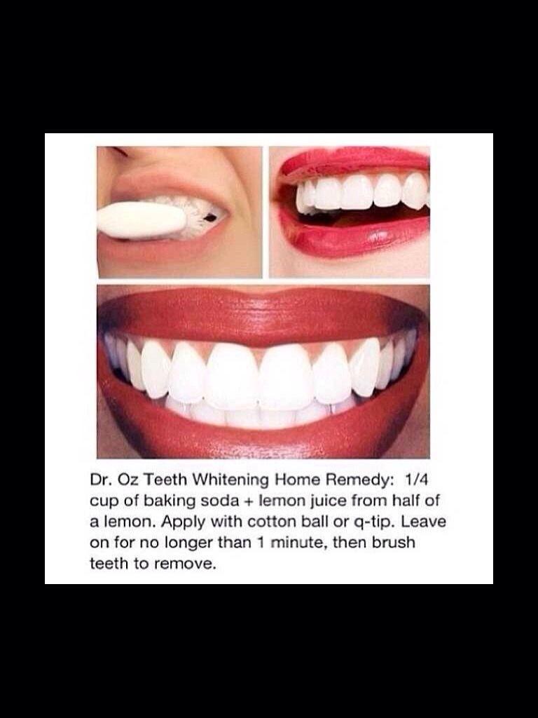 Whiten Your Teeth..Fast And Easy Baking soda, lemon, Diy