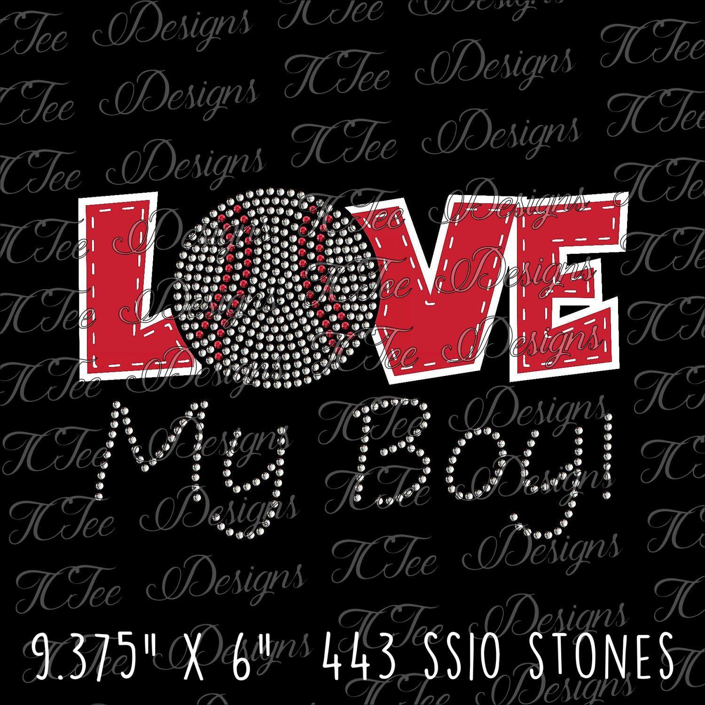 Download Love My Boy! - Baseball Mom - Mixed Media - Baseball Mom ...
