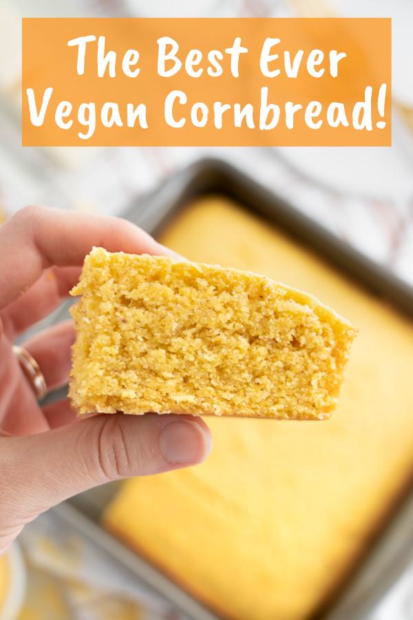 The Best Ever Vegan Cornbread Sweet Moist Plant Well Recipe In 2020 Vegan Cornbread Vegan Comfort Food Vegan Recipes