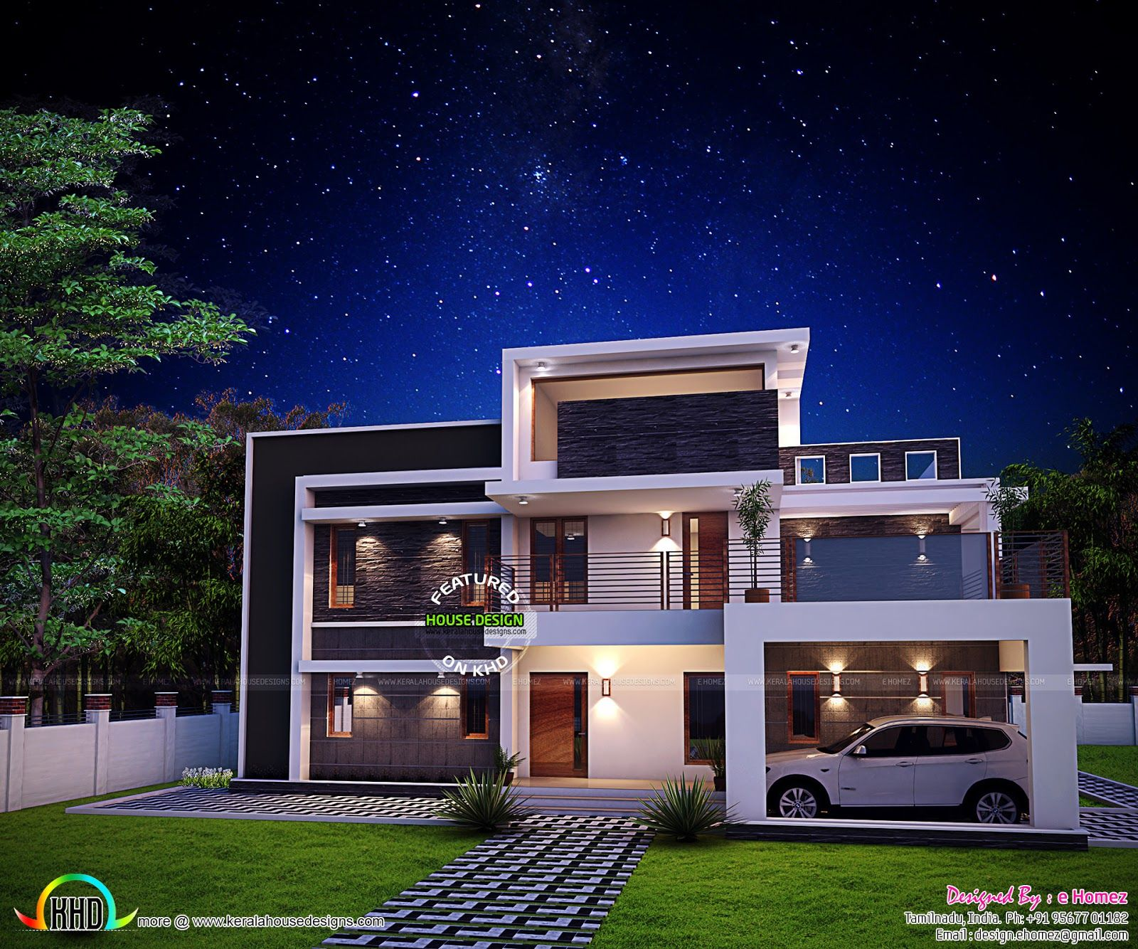 Modern Kerala Home Design: 2611 Sq-ft Awesome Contemporary Home