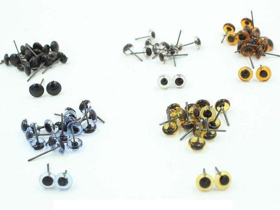 100er 3-14mm Glasaugen auf Draht Spielzeug Teddy Augen Puppen | ich ...