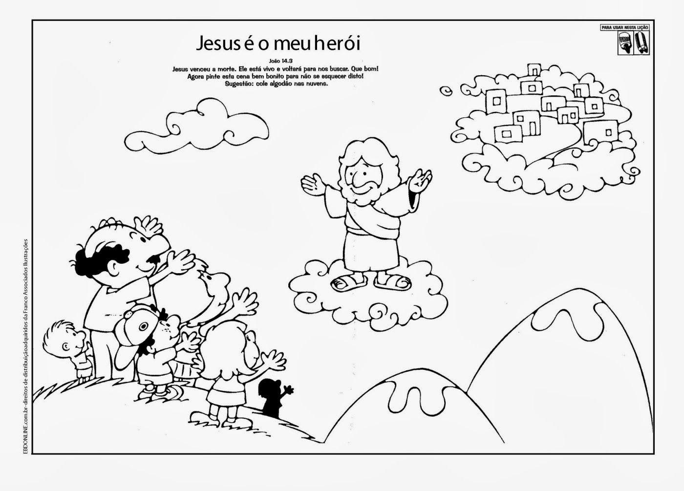Desenhos Biblicos Para Colorir Infantis Jesus Para Colorear