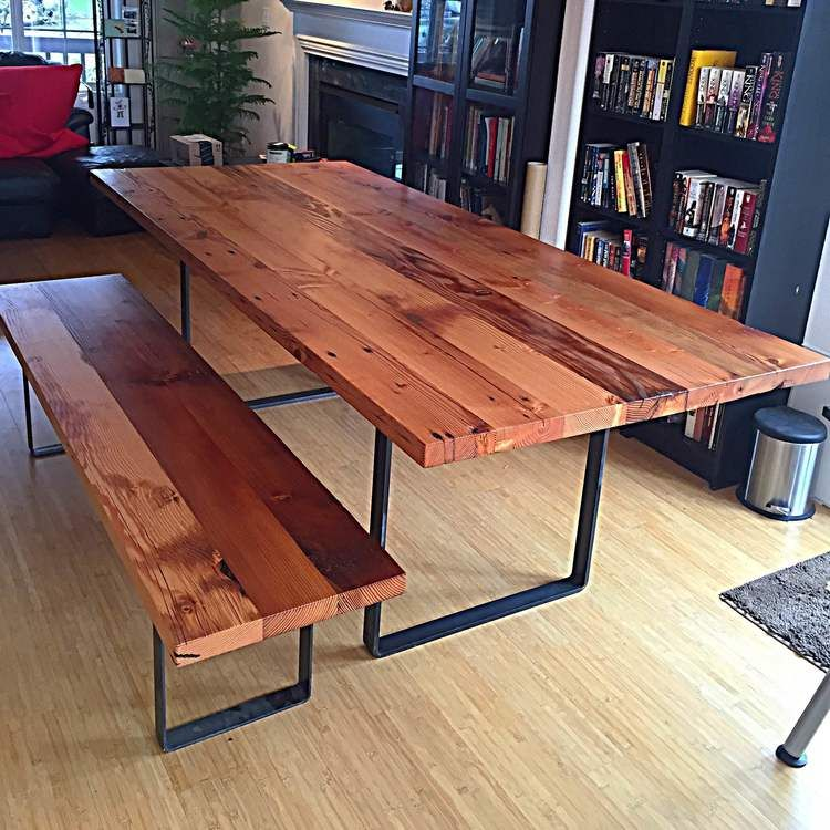 Fremont Reclaimed Douglas Fir Dining Table Stumptown Reclaimed Custom Tables Portland Or Dining Table Dining Room Layout Custom Table
