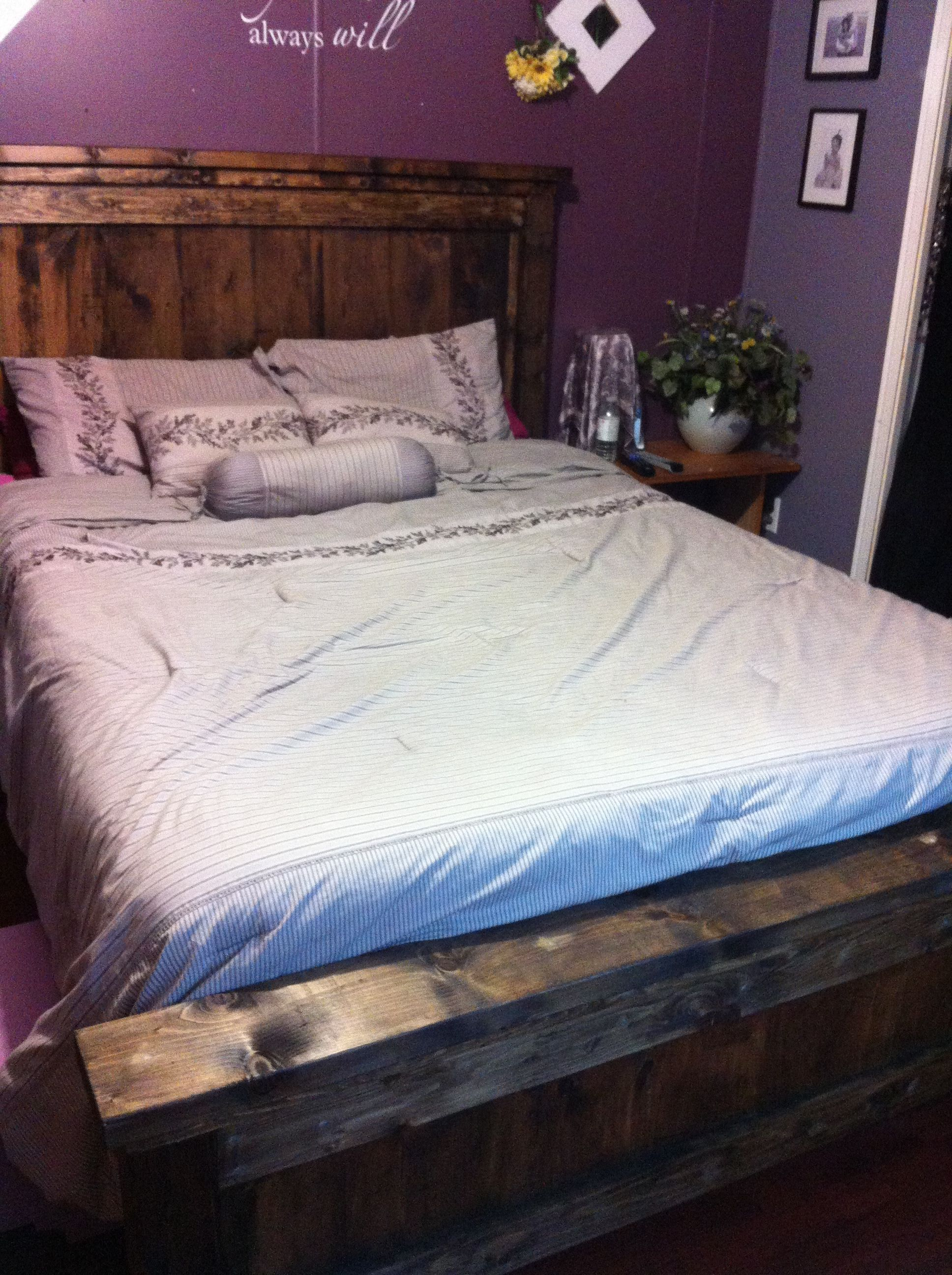 Farmhouse Bed Queen Sized Bed, Bed plans, Queen beds