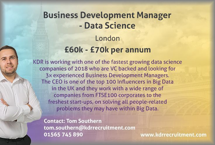 **NEW JOB** Business Development Manager needed in