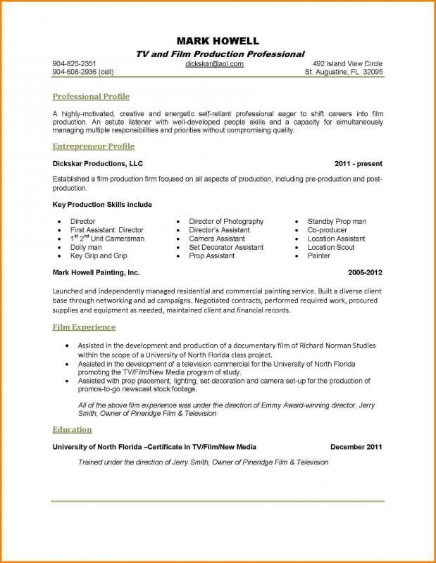 Example Of One Page Resume | One Page Resume Examples Resume Examples Pinterest Sample