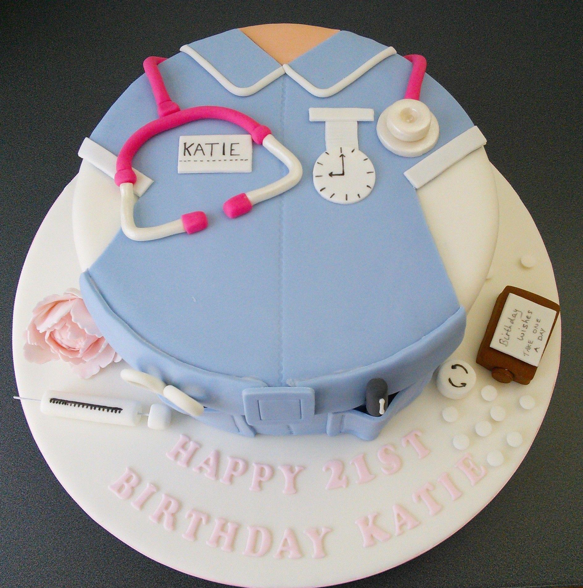 Nurse cake nurses uniform 21st birthday Birthday cake Pinterest