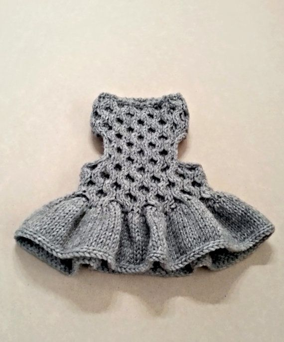 Dog Dress| Pet Clothing | Hand Knit Dog Clothes | Pet Top | by ...