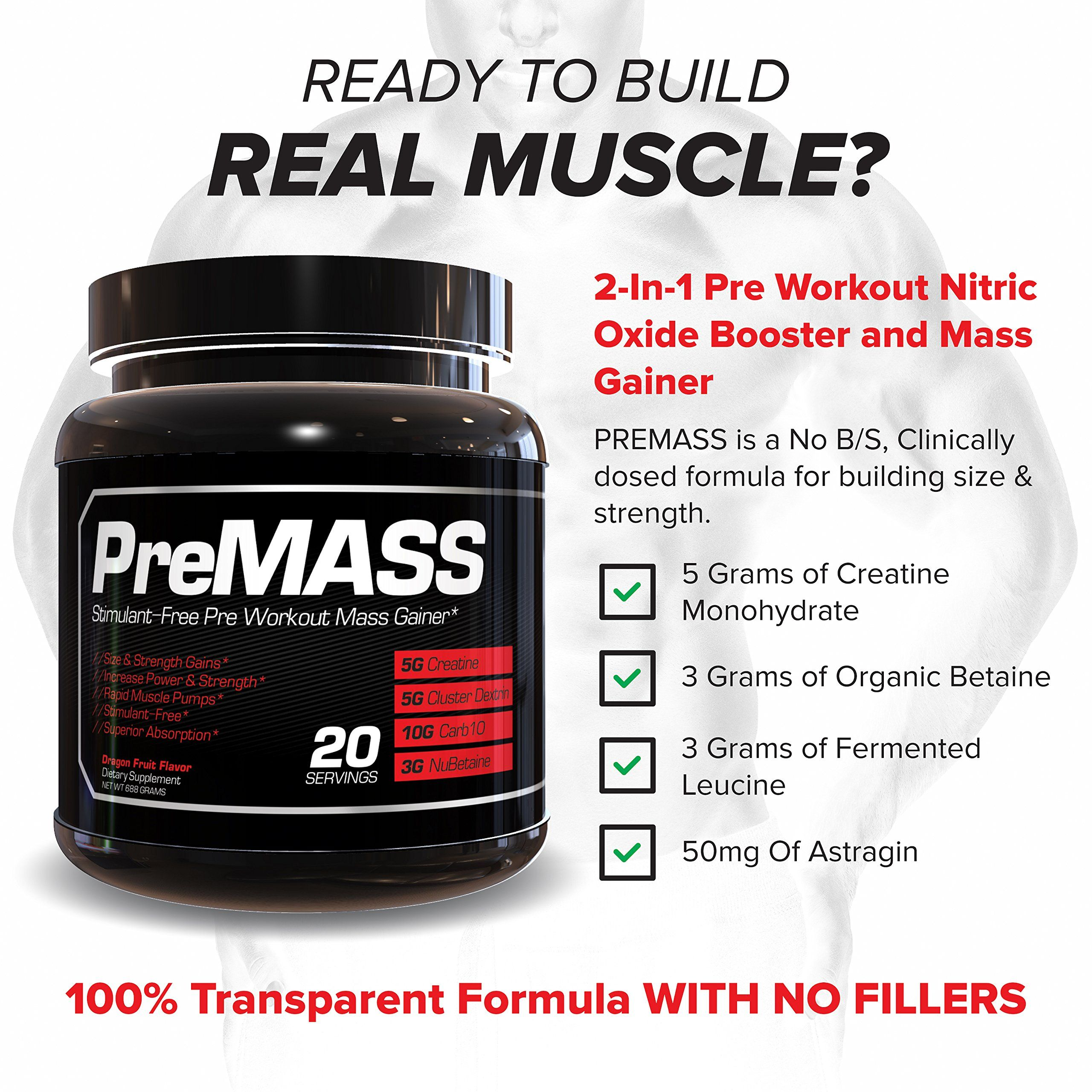 RAW Synergies PRE MASS Gainer Workout Supplement Pre