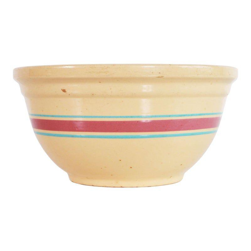 Watts medium size batter bowl yellow ware vintage baking bowl