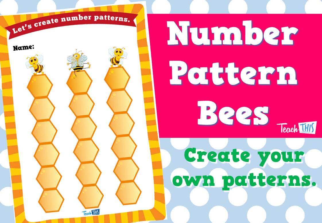 Number Pattern Bees Number Patterns Pattern Classroom Games