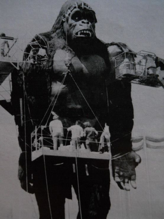 king kong 1976 the very stiff full scale animatronic but not