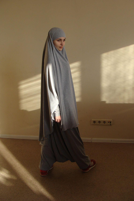 Franch Khimar Suit Muslim Sport Harem Pants Islamic Dress Jilbab 3layer Syari Ori By Scarfturbanhijab The Hijab