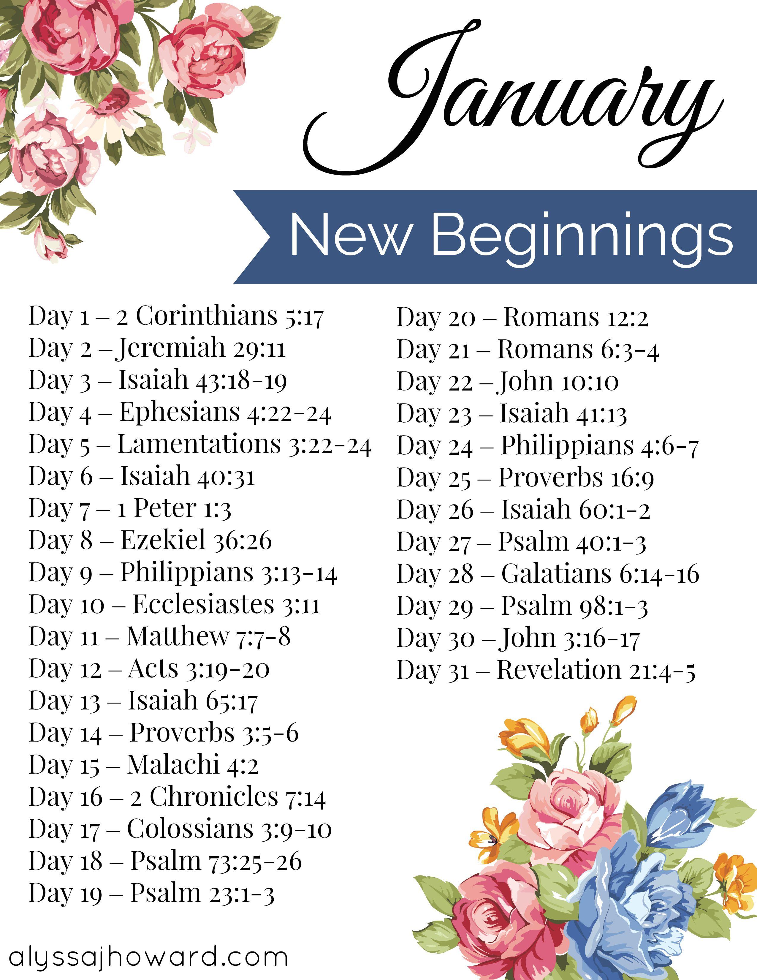 January Bible Reading Plan Scripture Writing Plans Scripture Reading Bible Study Scripture