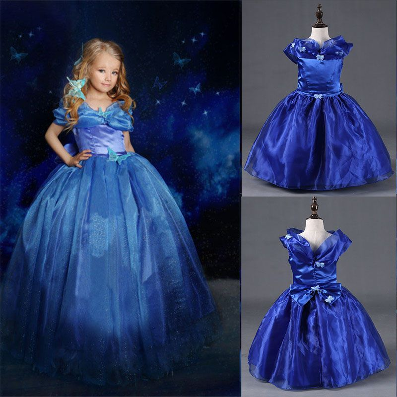 Click to Buy << Hot New Cinderella Princess Kids Dress Cinderella ...