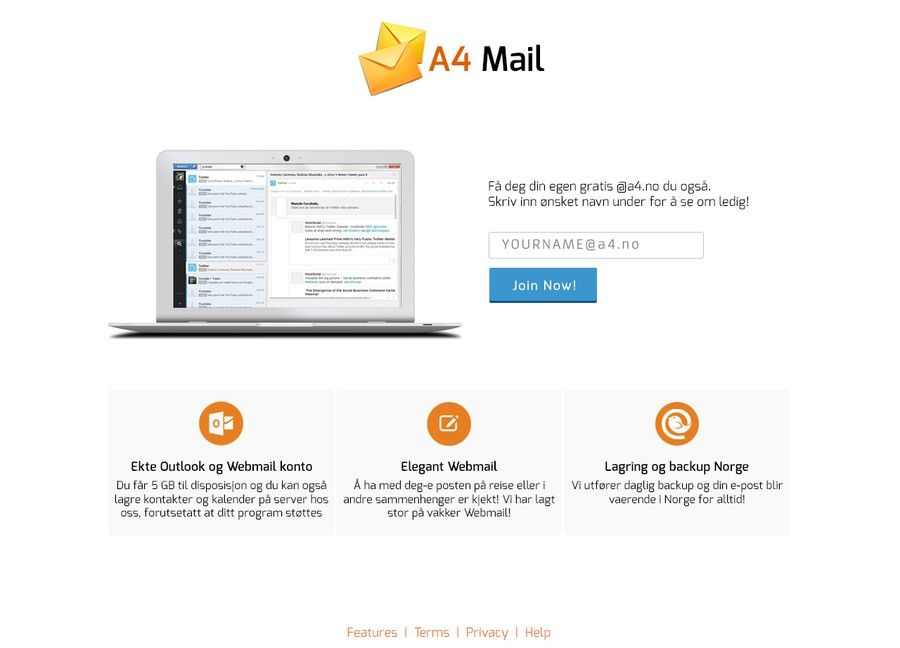 Signup landing for free e-mail account by Maitri99