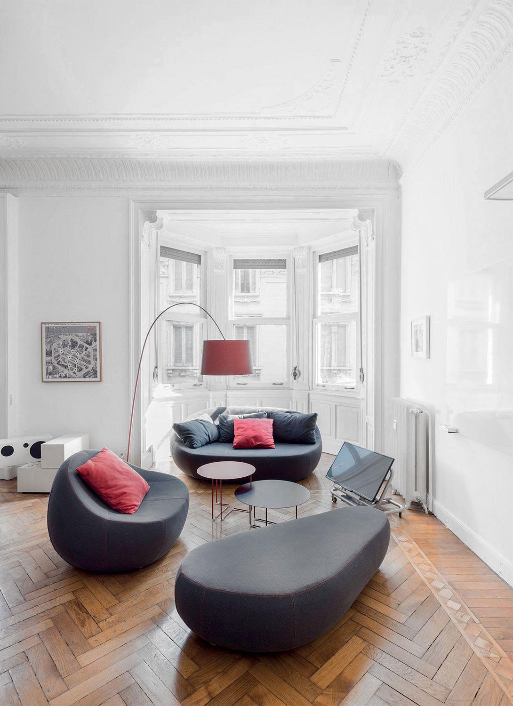 Sofa runde form  Die runde organische Form der Flirtstone Serie von Sphaus sorgt ...