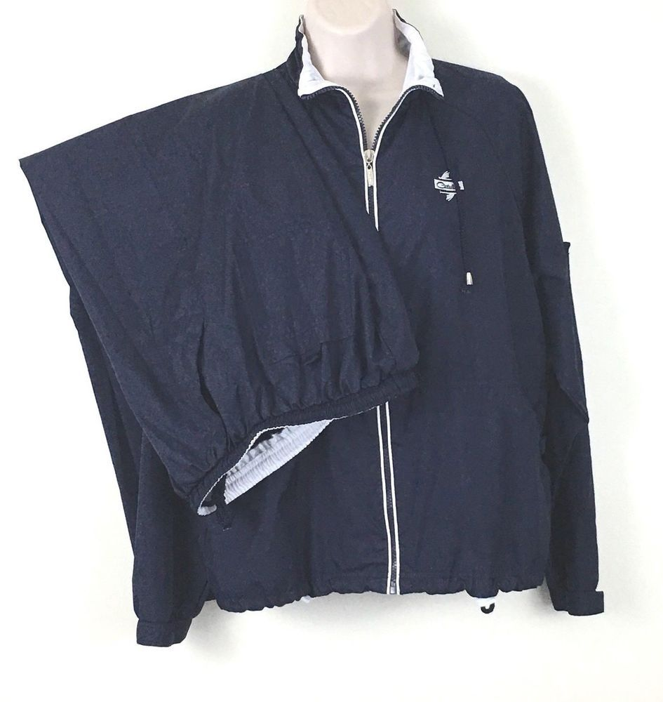 d2e41970 Catalina Jogging Warm Up Small 4 6 Blue White Pants Jacket Mesh Lining  Pockets | eBay