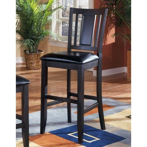 Carlyle 30 Upholstered Wooden Bar Stool By Ashley Furniture