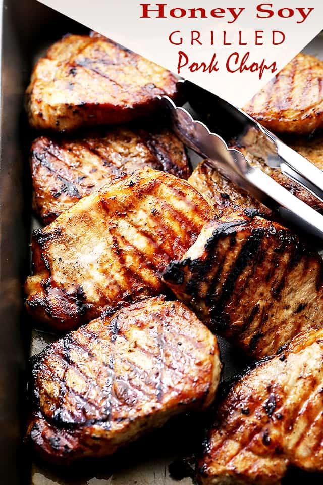Honey Soy Grilled Pork Chops | Easy Grilled Pork Chops Recipe