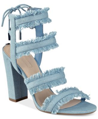 Women's Evira Strappy Dress Guess Block Heel Sandals NnmwO80vPy