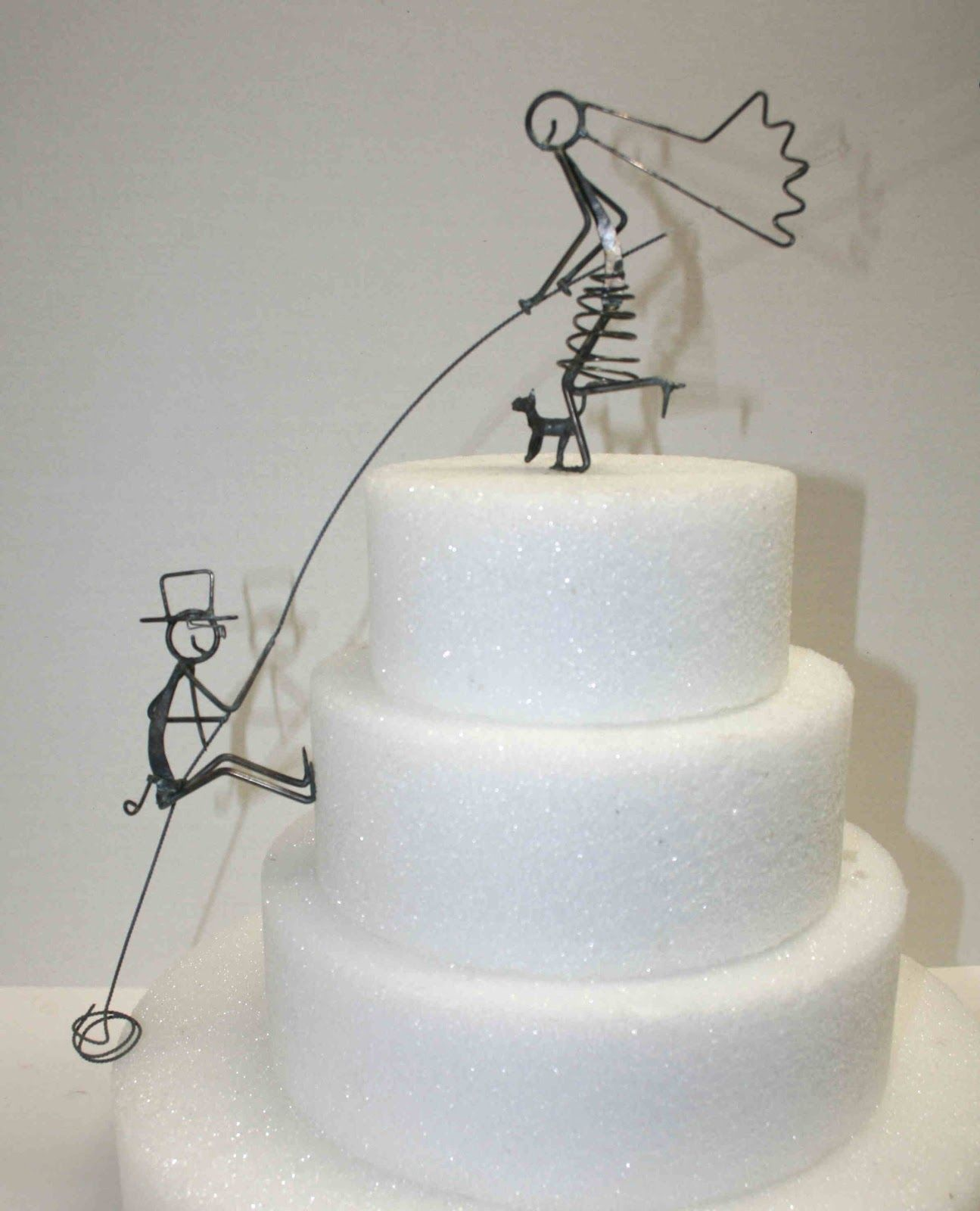 We Like The Climber Cake Topper Wire Especially With The Little - Wedding Cake Toppers Okc
