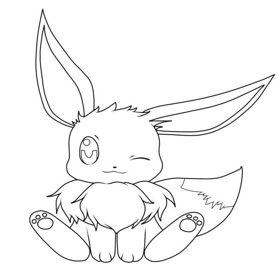 Cute Pokemon Coloring Pages Eevee in 2020 Pokemon