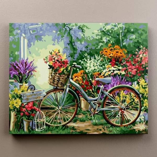 Lazzboy Paint by Number Kit for Adults Children Pigment DIY Canvas Art Oil Painting Landscape Sea Street Beginner Wall Home Decor
