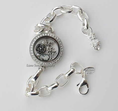 Origami Owl silver and gold link locket bracelets, www ... | 447x475