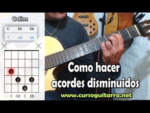 Como Hacer Acordes Disminuidos En La Guitarra Lições Para