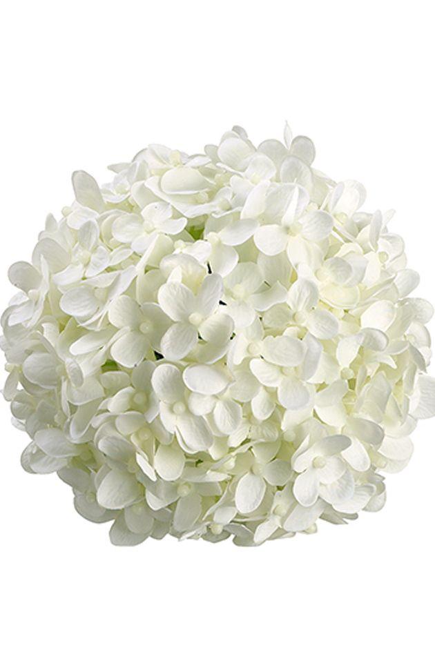 6 White Silk Hydrangea Balls Hanging Decorations Wedding Flowers Silk Hydrangeas Faux Flowers Wedding Flower Guide