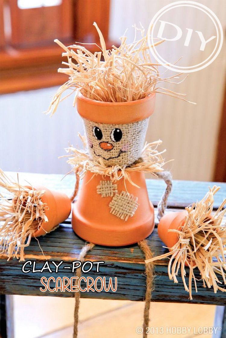Diy thanksgiving decor pinterest - Diy Clay Pot Scarecrow Top Easy Interior Design Project For Thanksgiving Decor Easy