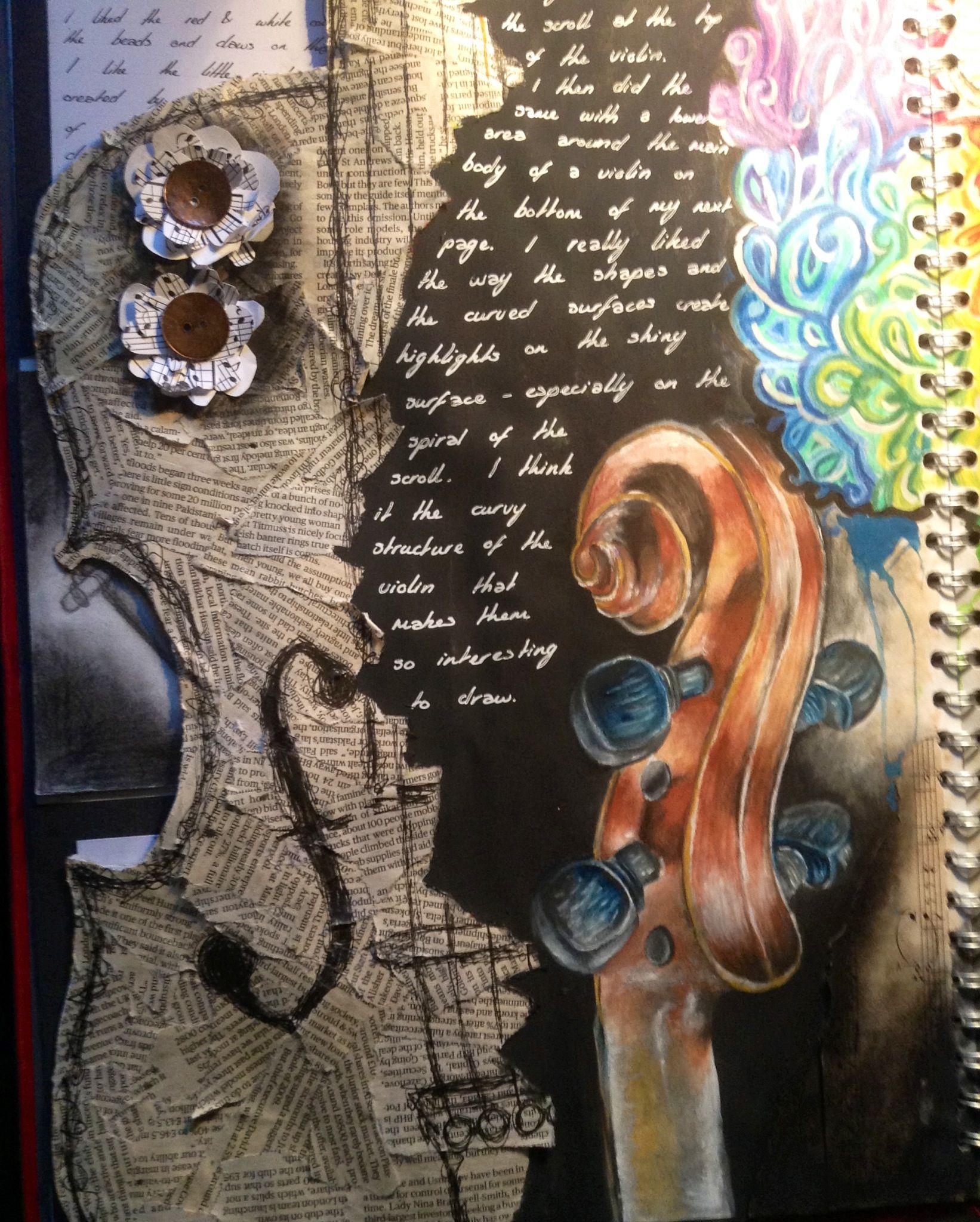 As Level Art Sketchbook Page Inspiration Gcse Art Sketchbook A