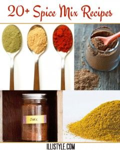 20+ Spice Mix recipes to save you money, use as gifts, and avoid chemicals from sotre bought mixes - illistyle.com