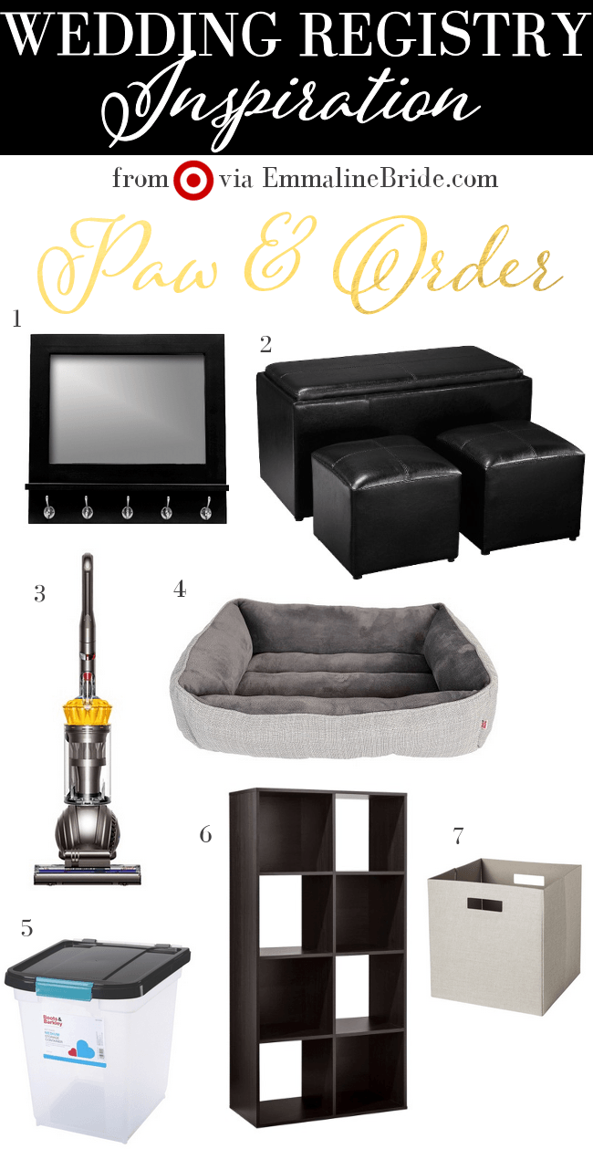Pet Wedding Registry Ideas from Target Paw & Order