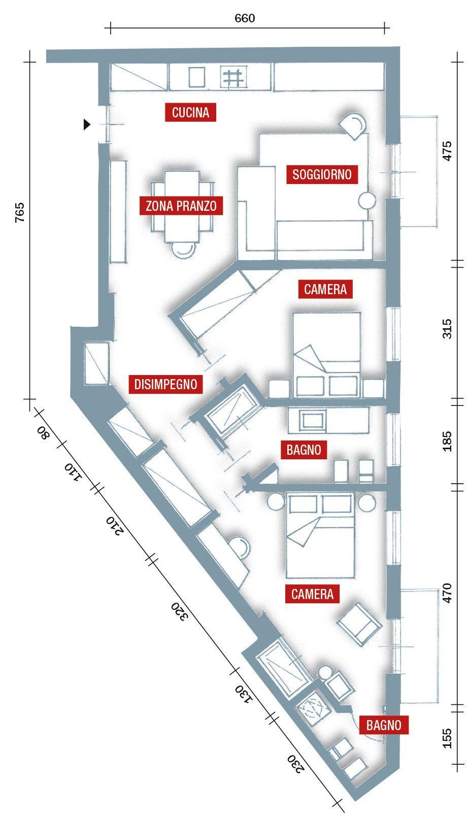 75 Mq 10 Idee Per Far Sembrare Piu Grande La Casa Planimetrie Di Case Piantine Di Case Planimetrie Dell Appartamento