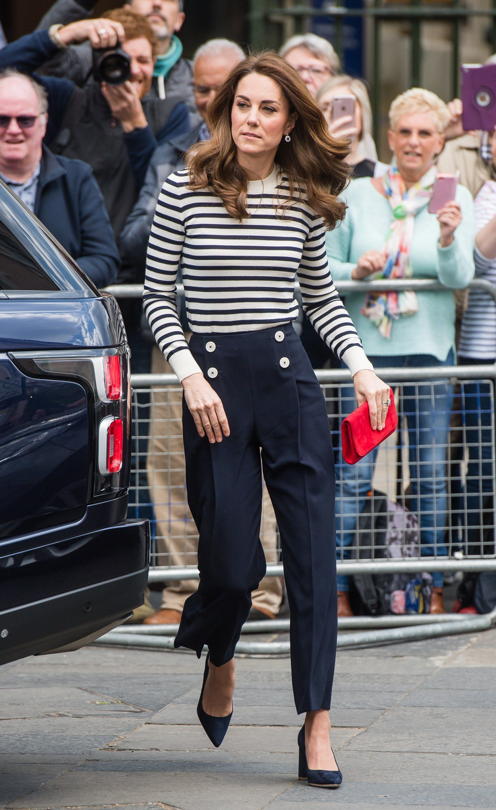 Kate Middleton Has a Royal Take on French Girl Style #frenchgirlstyle