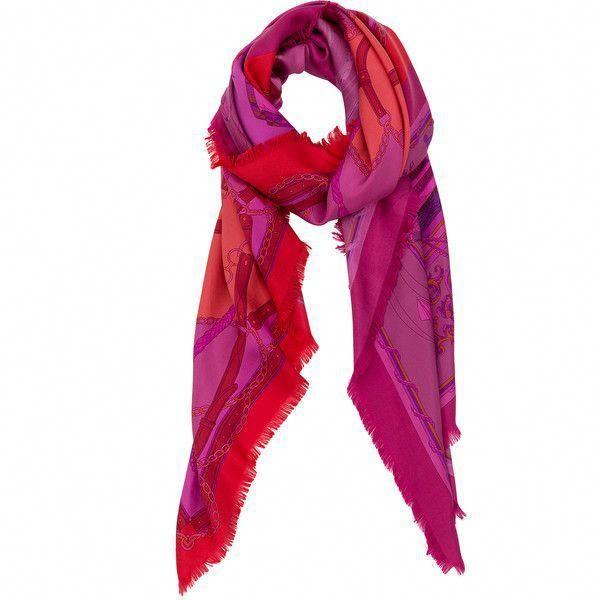 Franco Ferrari Pink Sail Print Silk Scarf ($295) ❤ liked on Polyvore featuring...        Franco F