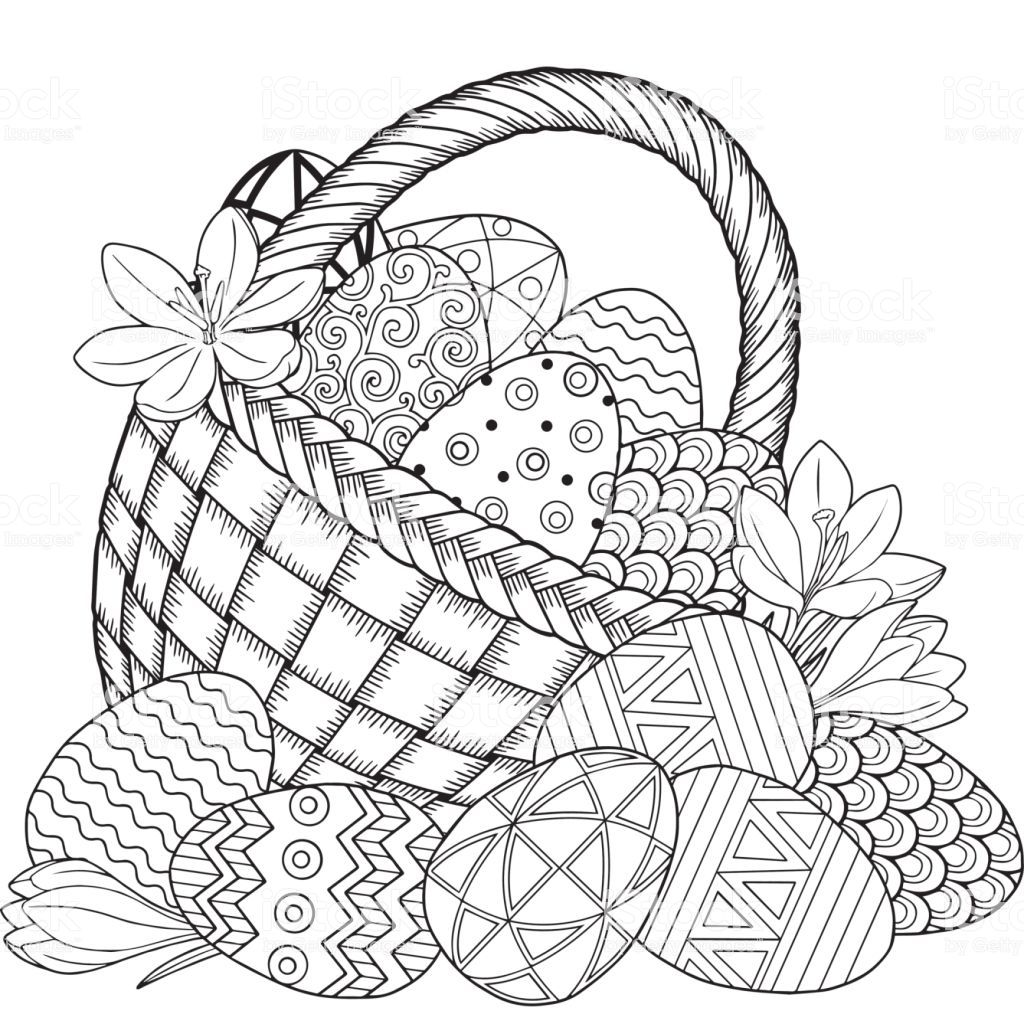 Coloring Book For Adults For Relax And Meditation Vector
