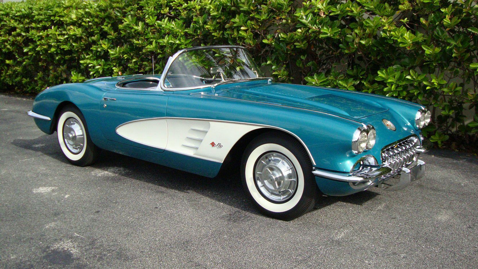1958 Chevrolet Corvette Convertible Presented As Lot S93 At Dallas