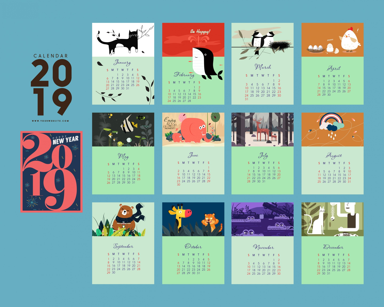 Free 2019 Desktop Wallpaper Calendar Template Printable Calendar Template Calendar Graphic