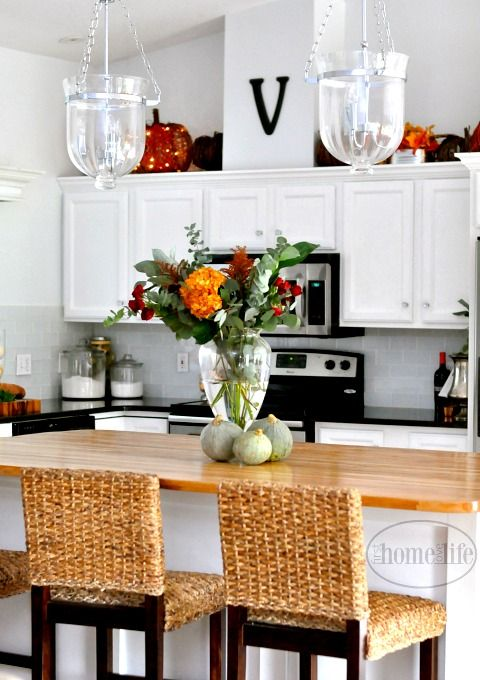 Beautiful White Kitchen Designs Magnificent Fall Kitchen Decorating  Block Island Butcher Blocks And Subway Design Ideas