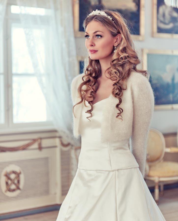 Wedding Bolero 70% angora rabbit Kate Middleton Sweater hand knit ...