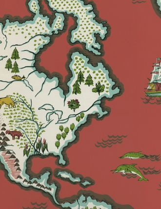Expedition novelty map wallpaper from ralph lauren wallpaper expedition novelty map wallpaper from ralph lauren gumiabroncs Images