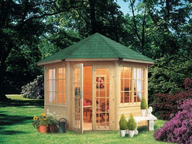 Pavillon Karibu Roma 2 - 8-eck-holz-pavillon - Der Pavillon Mit ... Holz Pavillon Im Garten Bauarten