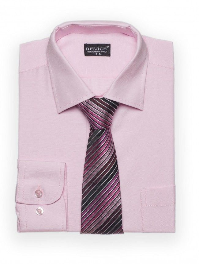 Mens pink shirt & tie set - Device | holy communion | Pinterest ...