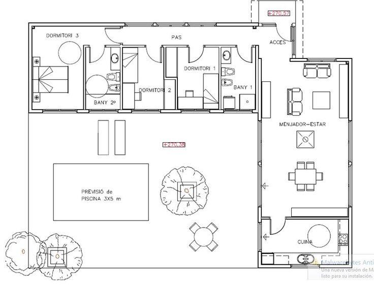 6b10a987a634ac2101e3af0425481472 Jpg 736 561 Projectos De Casas Plantas De Casas Projetos De Casas Terreas