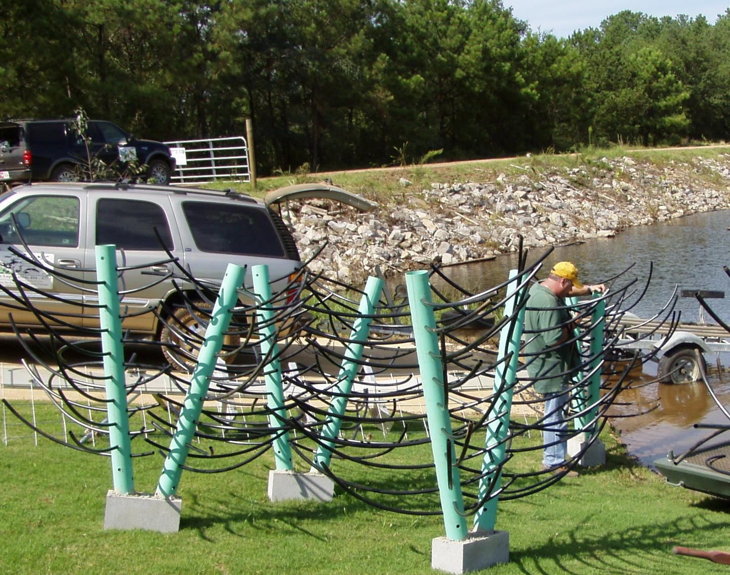 Fish management pond liners pinterest fish and ice for Bass pond construction