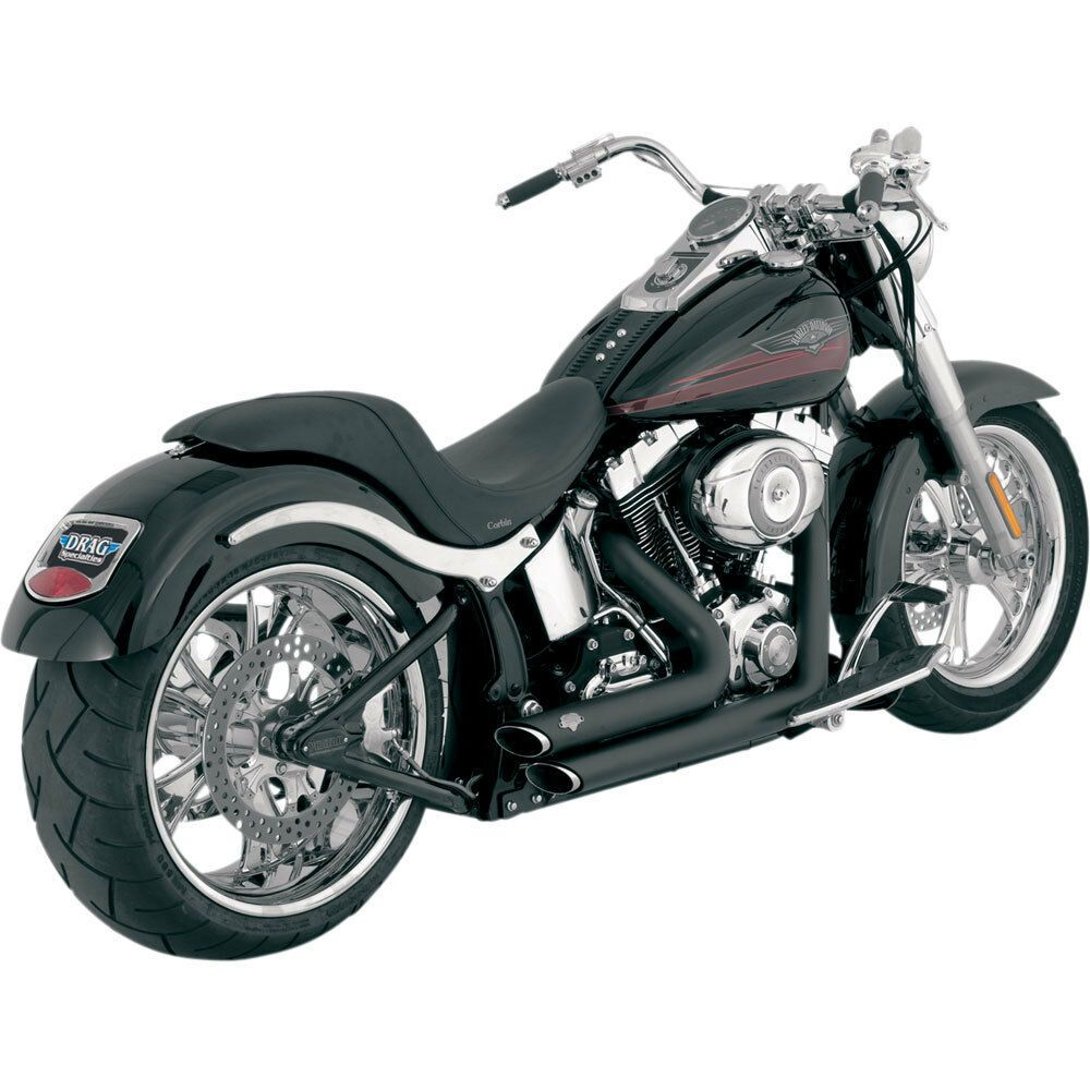 Vance & Hines Black Shortshots Staggered Exhaust for 1986
