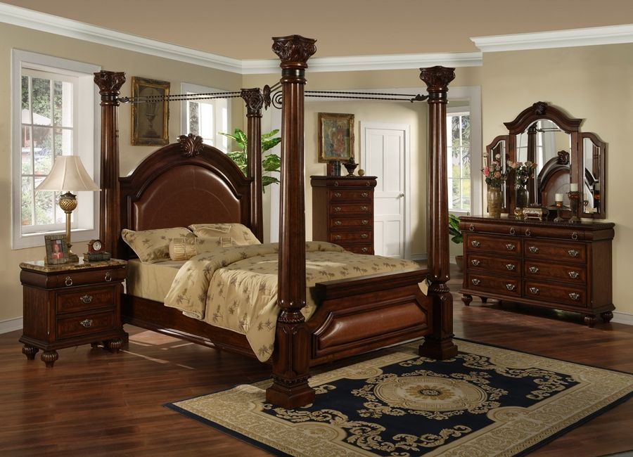Kendall Park Bedroom Set With Four Post Canopy Bed Bedroom Sets Pinterest Parchi Letti A Baldacchino E Set Da Bagno